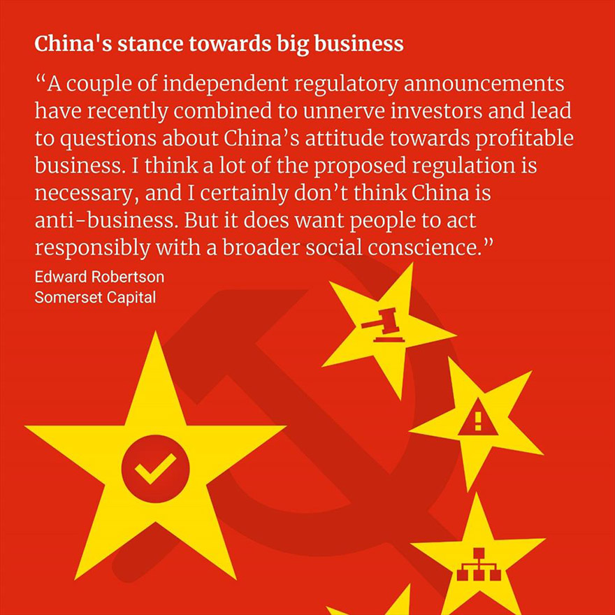 China's stance towards big business